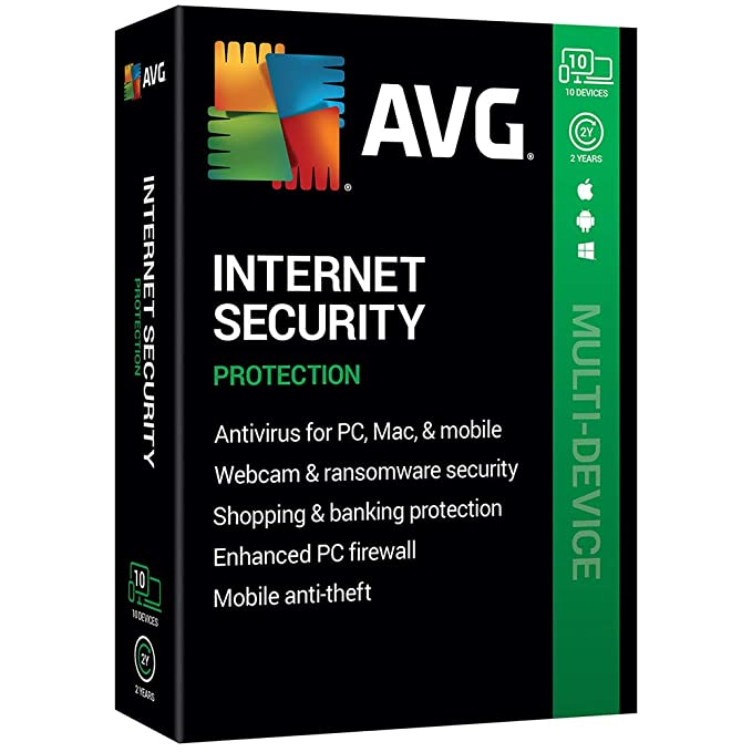 Best Antivirus For Mac 2020.Avg Technologies Avg Internet Security 2020 10 Devices 2 Year 2020