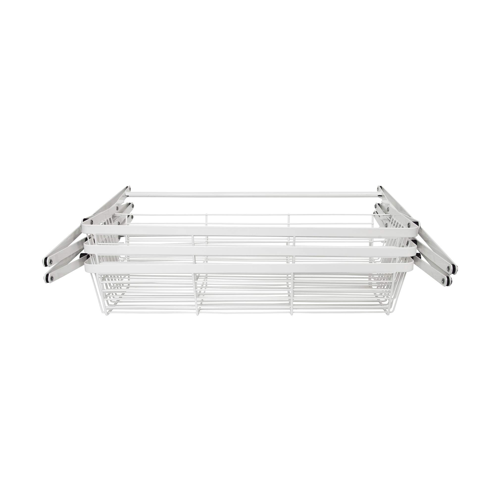 Supermoon Products Over The Door 3 Tier White Hanging Organization Rack (2 Pack)