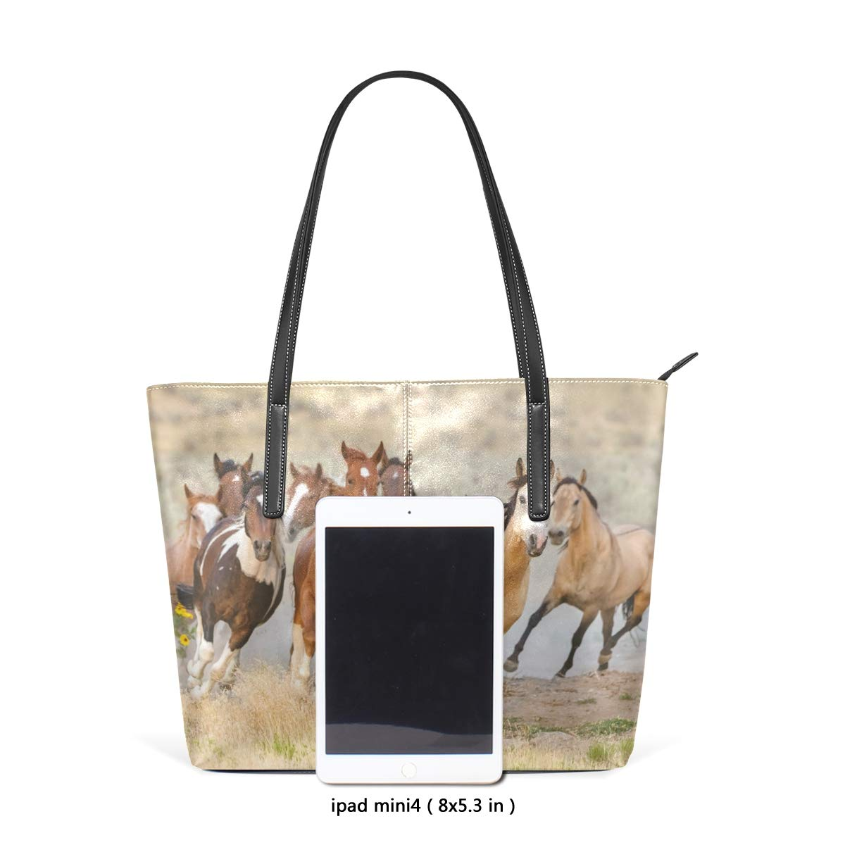 c56b1057e7a Amazon.com: Dragon Sword Running Horses Women's PU Leather Fashion ...