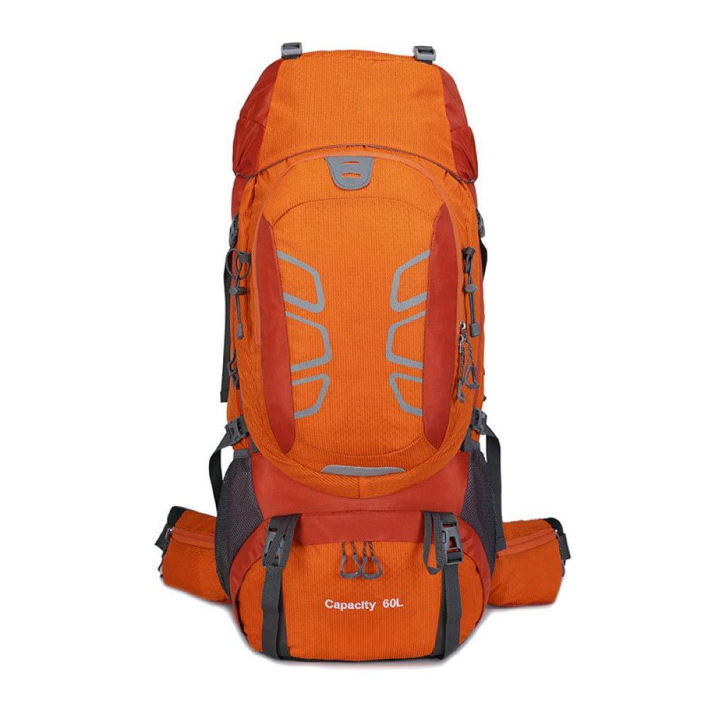 Orange  KXLK Sac à Dos De Randonnée Imperméable Sac à Dos-60L Sac à Dos d'alpinisme Sac à Dos pour Voyager Pique-Nique Camping Escalade Sport en Plein Air,bleu