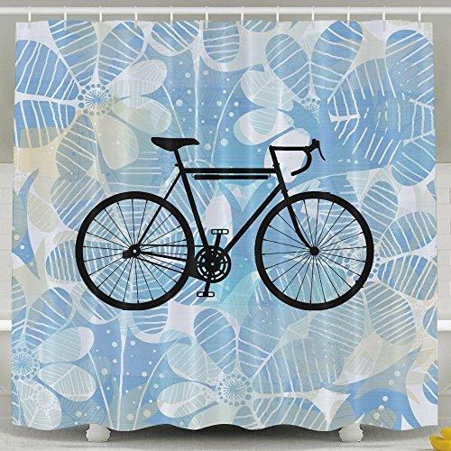 Racing Bike Bicycle Bathroom Shower Curtain, Waterproof Bath