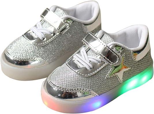 Sport Shoes Boys Girls LED Flash Shoes