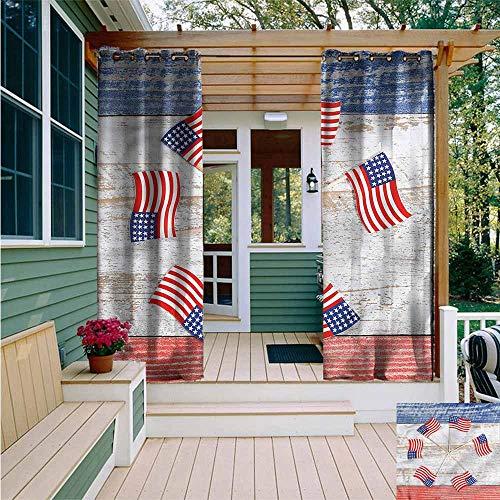 - Beihai1Sun Outdoor Blackout Curtain,4th of July USA Flags in a Pinwheel,Energy Efficient, Room Darkening,W84x96L