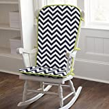 Carousel Designs Navy and Citron Zig Zag Rocking Chair Pad