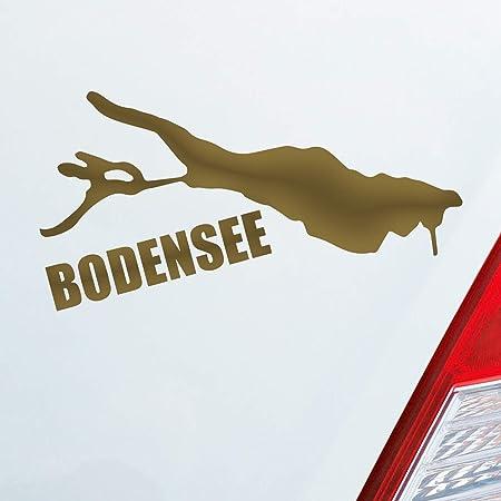 Auto Aufkleber In Deiner Wunschfarbe Bodensee See Deutschland Urlaub 10x6 Cm Autoaufkleber Sticker Folie Auto