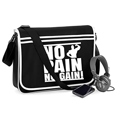 680003399c7e Amazon.com | No Pain No Gain-Unisex Funny Jokes Sayings Bagbase ...