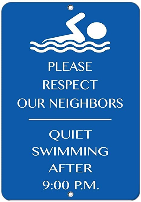 No Excessive Barking Noise Please Respect Our Neighbors Aluminum METAL Sign