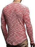 LEIF NELSON mens pullover long sleeve t-shirt