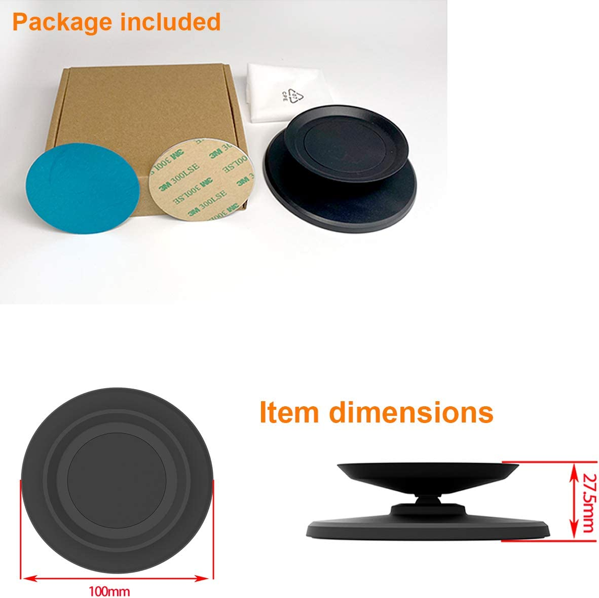 Magnetic attachment Swivel and Tilt Stand for Echo Dot 4th Gen 2020 Release Anti-Slip Base ELPHA Adjustable Stand Mount Accessories Compatible with  Echo Dot 4th Gen Black