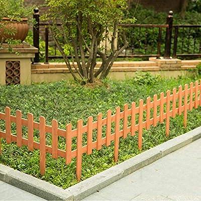 YINUO Cercos Jardín poste de la cerca de la pantalla Animal Barrera Flor piscina de borde de madera Cerca de piquete jardín Mensaje anticorrosivo carbonización anti-oxidación al aire libre Patio, 3 ta: