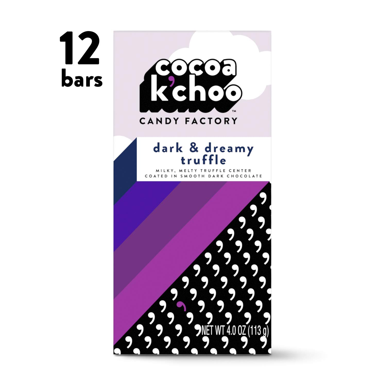 Cocoa K'choo Chocolate Dark & Dreamy Truffle, 4 Ounce (Pack of 12)