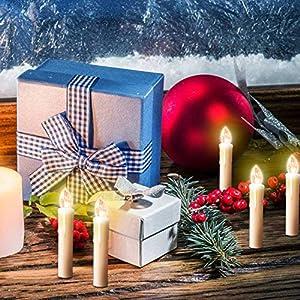 Weihnachtsdeko Led Kerzen.Yaobluesea 20stk Weinachten Led Kerzen Lichterkette Kabellos