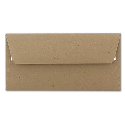 Briefumschlag In Din Lang Format Aus Kraft Papier In Sandbraun 50