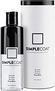 SimpleCoat Natural Stone and Stainless Steel Sealer | Countertop Sealer | 8oz