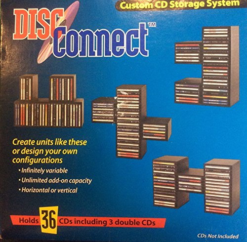 Disc Connect Customizable CD Storage System. Holds 36 By Disc Connect