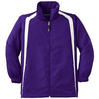 Sport-Tek Youth Colorblock Raglan Jacket>XL Purple/White YST60