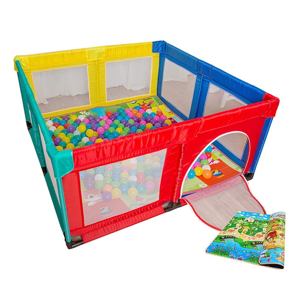 【超新作】 ボールとマットレス付きの安全な遊び場ポータブル幼児用の遊び場150×150cm屋外用と屋内用のベビープレイヤー B07JC3HVL9 B07JC3HVL9, モーターマガジン Web Shop:6c25b210 --- a0267596.xsph.ru