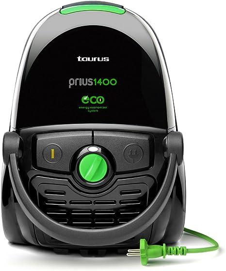 Taurus - Aspirador Conbolsa Prius1400, Ecologico, 1400W, 420W De Succion, Ahorro Energetico, Bolsa 4L, 5 Niveles De Filtrado, Parquet. Negro.: Amazon.es: Hogar