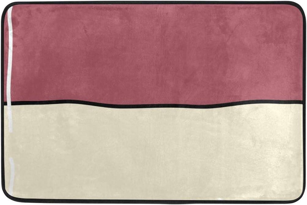 MALPLENA Alfombrillas Bandera de Mónaco para el Suelo, Alfombrilla Antideslizante para la Entrada de la Puerta, Sala de Estar, Comedor, Dormitorio o Cocina.