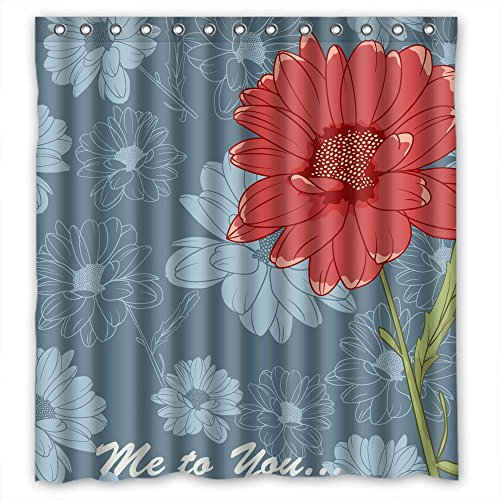 Monadicase Bathroom Curtains Width X Height / 66 X 72 Inches / W H 168 By 180 Cm(fabric) Nice Choice For Artwork Girls Birthday Kids Lover. Eco Friendly Flower Polyester