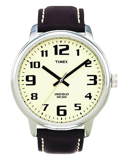 53df0e6be2cf Timex T28201 - Reloj análogico de cuarzo con correa de cuero para hombre