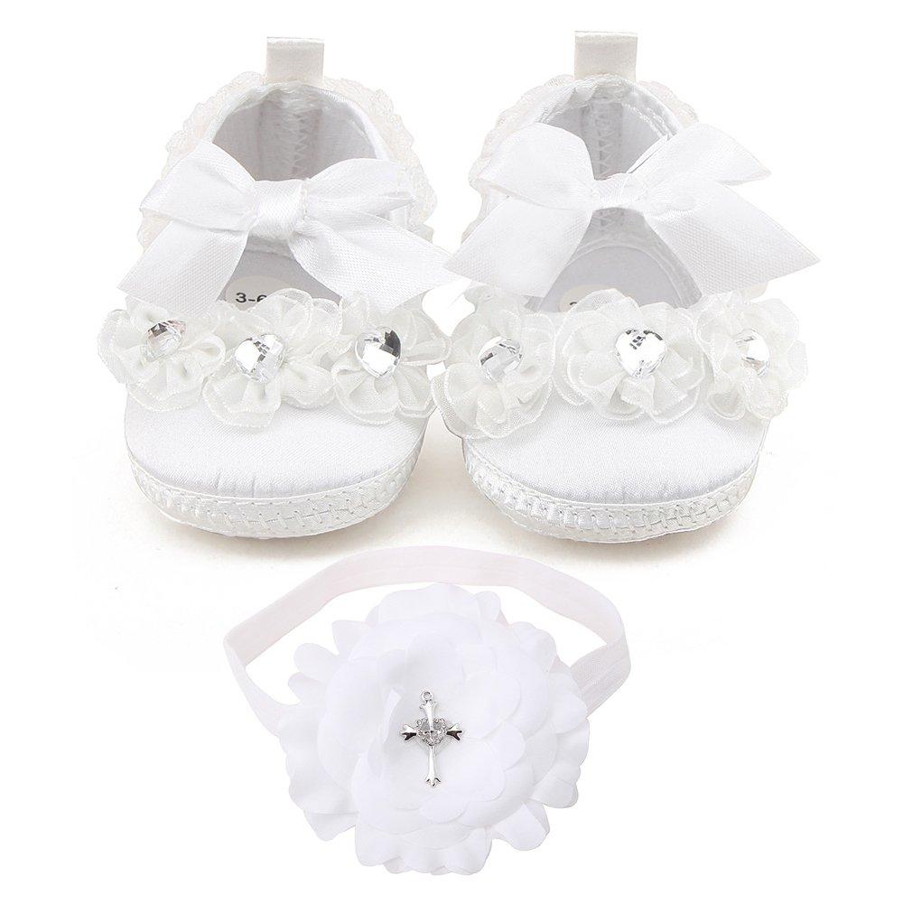 Voberry Newborn Baby Canvas Soft Sole Infant Prewalker Toddler Shoes