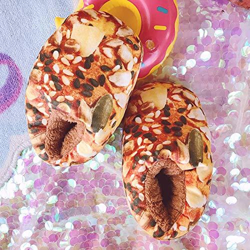 giocattoli novità creativo antiscivolo A pantofole all di pane e 35 con di Shishang coperta 40 peluche Autunno decompressione inclusive C cotone casa calde inverno Top x8Fazw