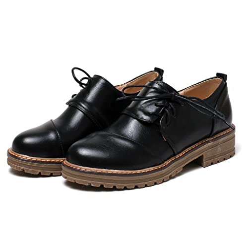 Kaloosh Ladies Leisure Smooth Leather Comfortable Flat Lace up Brogue Shoes 92T6idB