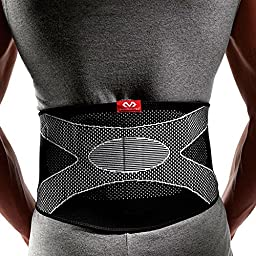 McDavid 4 Way Elastic Back Support with Pad, Large, Black