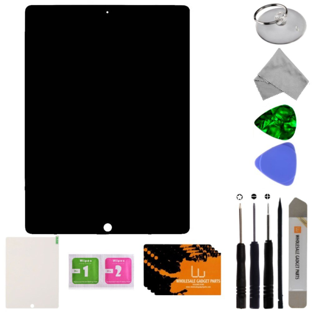 LCD & Digitizer Assembly for Apple iPad Pro 12.9 First Edition (Black) with Tool Kit by Wholesale Gadget Parts