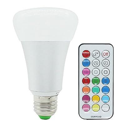 Led Couleur changeante télécommande ampoule lumière blanc chaud lumière (AC 85–265V)