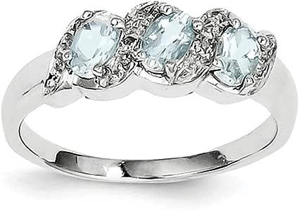Amazon.com: Solid .925 Sterling Silver Rhodium Aqua