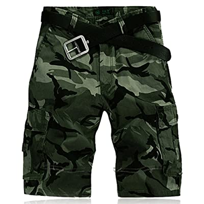 f6cde6c7c7 2017 Summer Men's Cotton Twill Loose Casual Camouflage Cargo Shorts (No  Belt)