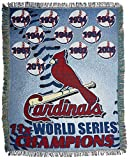 MLB St Louis Cardinals Commemorative Acrylic Tapestry Throw Blanket