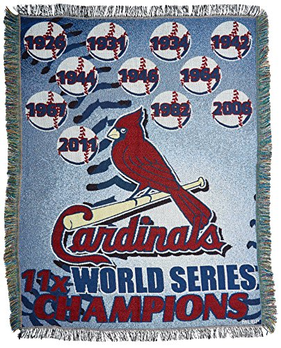 MLB St. Louis Cardinals Commemorative Woven Tapestry Throw, 48