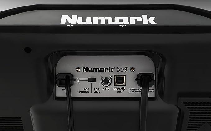 Numark TTUSB - Plato de DJ profesional con interfaz de audio, puerto USB , software de conversión y pitch ajustable