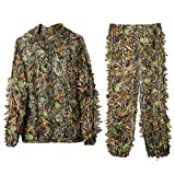 DoCred Ghillie Suit 3D Leaf Realtree Camo Camouflage Lightweight Clothing Suits for Jungle