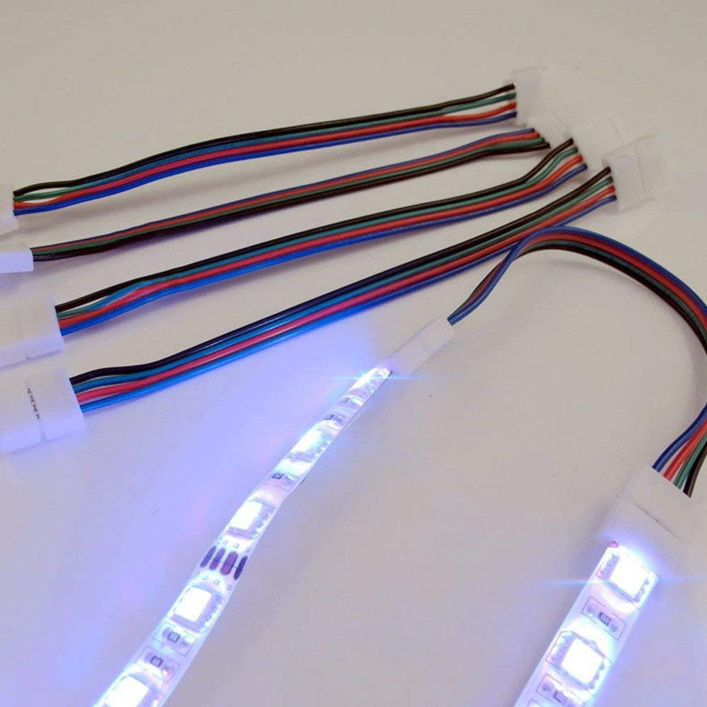 Gimax Wholesale 5050RGB LED Strip Connector 4P PCB Wide 10mm Solderless Connector for led RGB Strip non waterproof Connector 16cm long - (Color: 2 Connectors)