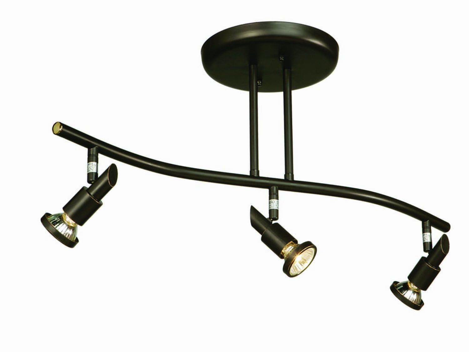 Artcraft Lighting Shuttle 3-Light Wavy Track Light, Oil-Rubbed Bronze by Artcraft Lighting