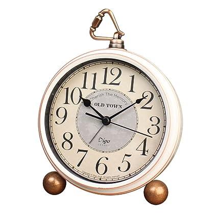 decorative desk clocks 55quot silent desk clocks mantel small decorativevintage quartz analog clock non ticking amazoncom 55