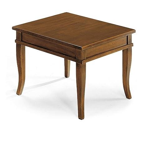 Tavolini Da Salotto In Arte Povera.Milanihome Tavolino Salotto Quadrato Bacheca Tinta Noce