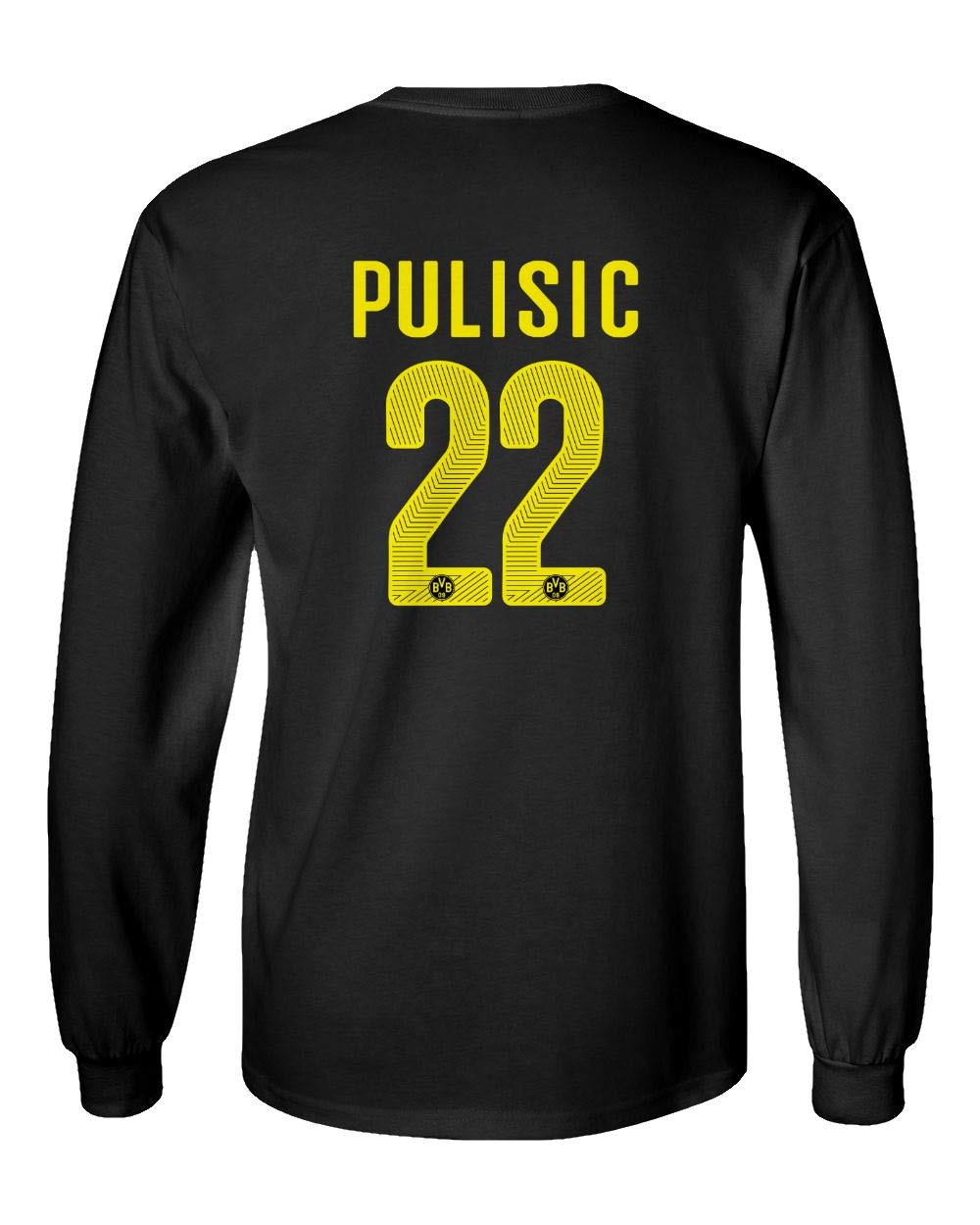Amazon.com  Spark Apparel Soccer Jersey Style Shirt  22 Pulisic Men s Long  Sleeve T-Shirt  Sports   Outdoors 97580687a