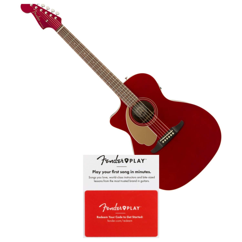 Fender Newporter Player LH Candy - Guitarra acústica eléctrica con ...
