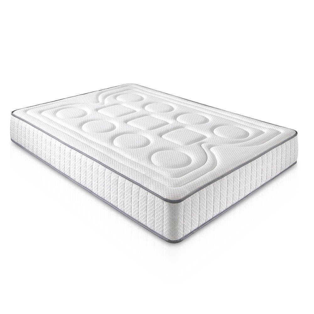 Viscoelastische Matratze CALIFORNIA 150 x 200 x 20 cm weiß - Sanfte Aufnahme mit Festigkeit (alle Größen)