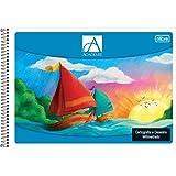 Caderno de Cartografia e Desenho Espiral Capa Flexível Académie 96 Folhas, Tilibra, 110493 - 1 un