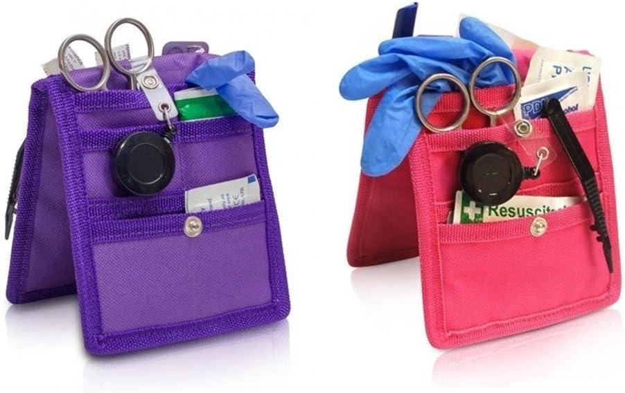 Pack 2 Salvabolsillos enfermera Keens para bata o pijama, Colores: 1 morado y 1 rosa, Lote ahorro, Medidas: 14,5 x 12 cm, Elite Bags: Amazon.es: Hogar