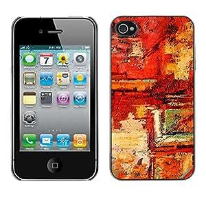 Print Motif Coque de protection Case Cover // V00001937 Pintura abstracta // Apple iPhone 4 4S 4G
