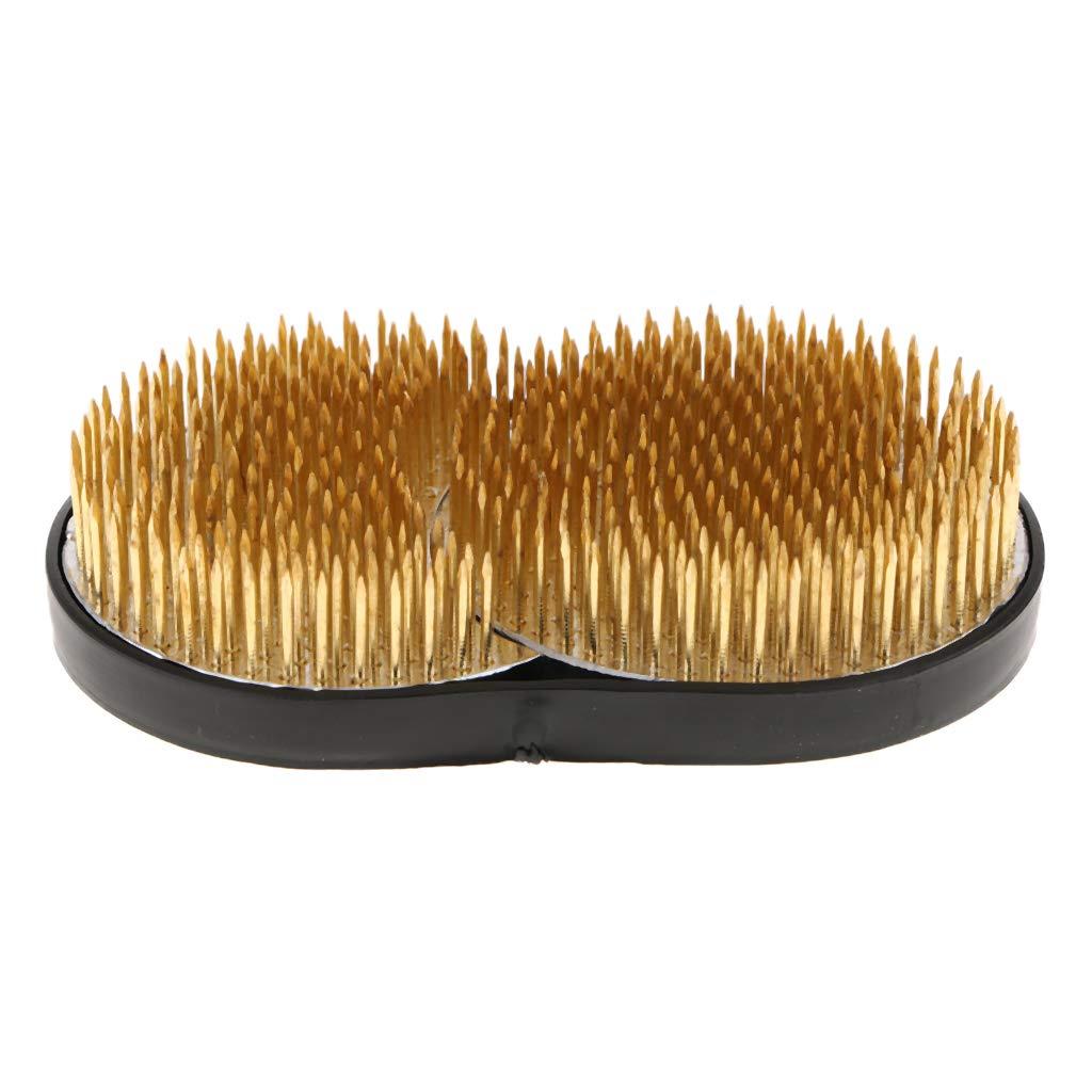 Ottone Sharplace Rotondo Ikebana Kenzan Fiore Rana Accessorio Set Per Composizioni Floreali