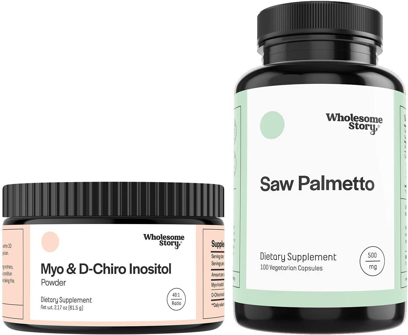 Myo & D-Chiro Inositol Powder + Saw Palmetto | Hormone Balance, Healthy Ovarian Function, Fertility and Hair Support | Vegan Friendly