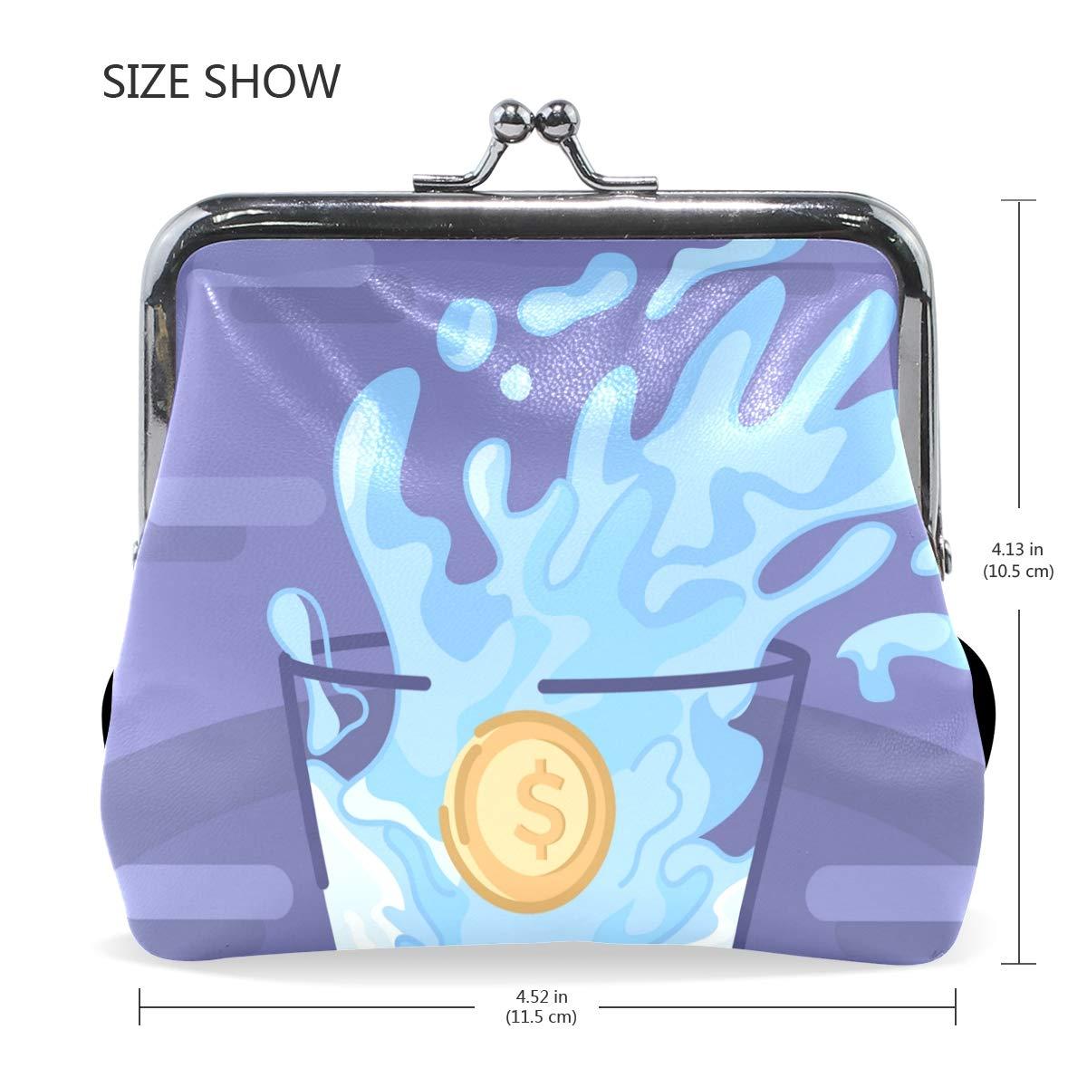 LALATOP Impact On Water Womens Coin Pouch Purse wallet Card Holder Clutch Handbag